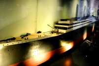 A scaled model of the ship